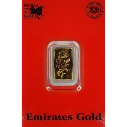 1 g Goldbarren Emirates...