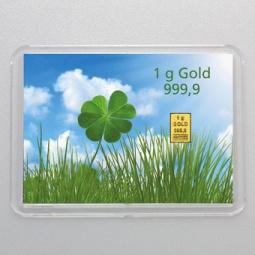 1 g Goldbarren...