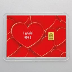 1 g Goldbarren Alles Liebe...