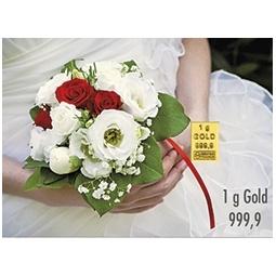 1 g Goldbarren Hochzeit...