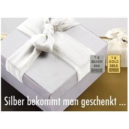 1 g Goldbarren Silber...
