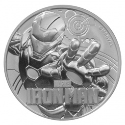 1oz Silber Iron Man 2018