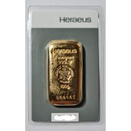 100g Goldbarren Heraeus...